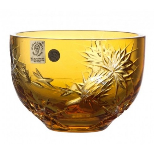 Crystal Bowl Thistle, color amber, diameter 110 mm
