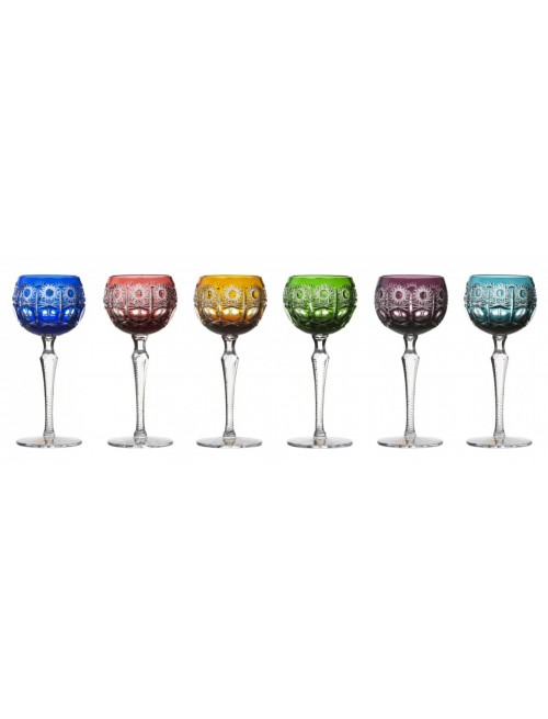 Crystal Set Wine Glass Petra 190, color mix, volume 190 ml