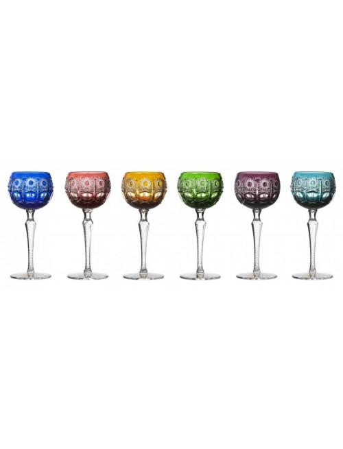 Crystal Set Wine Glass Petra 190, color mix, volume 190 ml