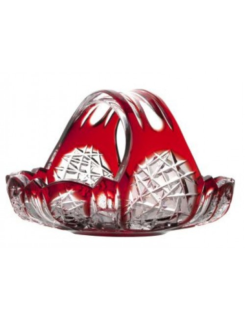 Crystal basket Frigus, color ruby, diameter 230 mm