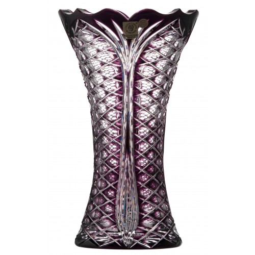 Crystal vase Ankara, color violet, height 230 mm