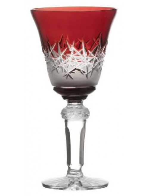 Crystal Shot Glass Hoarfrost, color Ruby, volume 50 ml