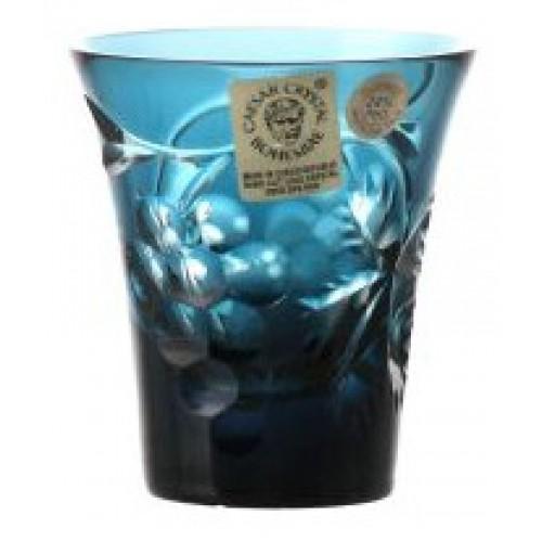 Crystal shot glass Grapes, color azure, volume 45 ml