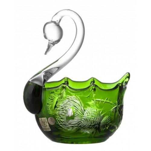 Crystal Swan Thistle, color green, diameter 116 mm