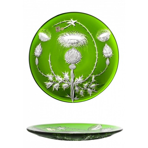 Crystal Plate Thistle, color green, diameter 300 mm
