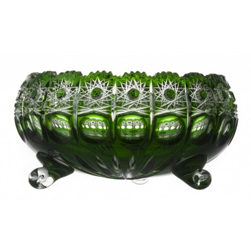 Crystal Bowl Petra, color green, diameter 230 mm
