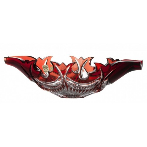 Crystal Bowl Diadem, color ruby, diameter 300 mm