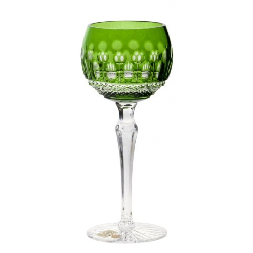 Crystal Wine Glass Tomy, color green, volume 190 ml