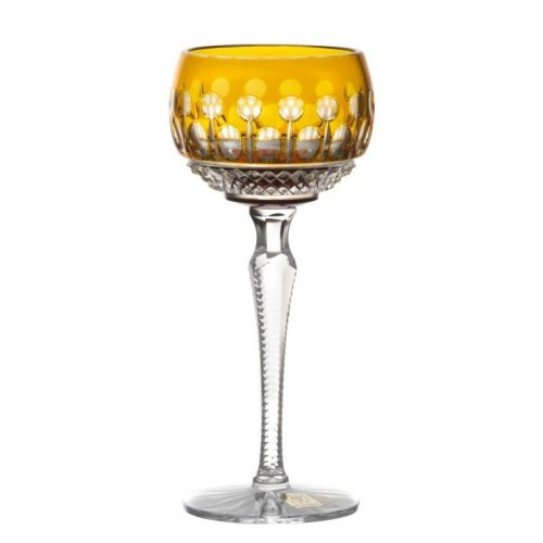 Crystal Wine Glass Tomy, color amber, volume 190 ml