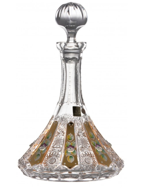 Crystal bottle 500K Gold, color clear crystal, volume 1050 ml