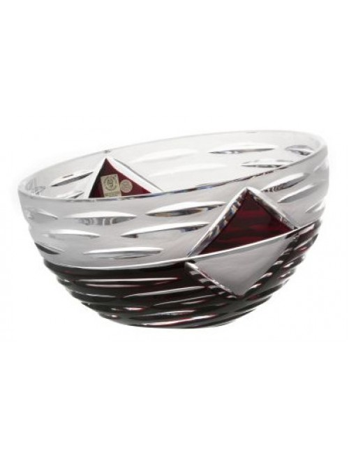 Crystal bowl Mirage, color ruby, diameter 229 mm
