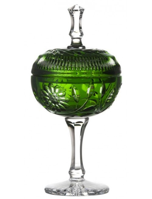 Crystal cup Garden, color green, height 315 mm