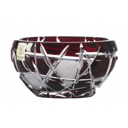 Crystal Bowl Mars dark, color ruby, diameter 109 mm