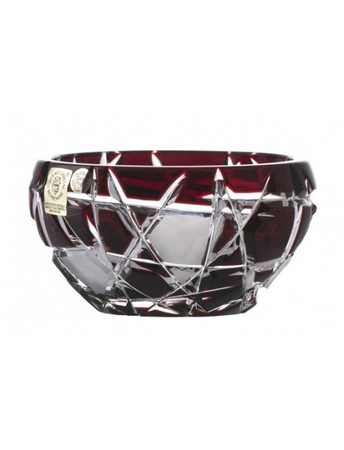 Crystal Bowl Mars dark, color ruby, diameter 109 mm