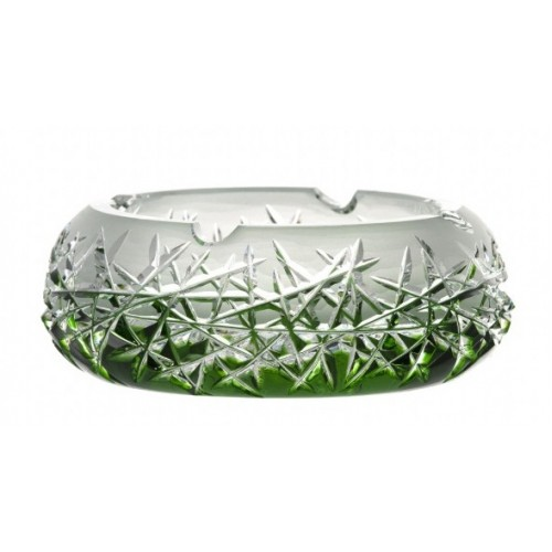 Crystal Ashtray Hoarfrost, color green, diameter 155 mm