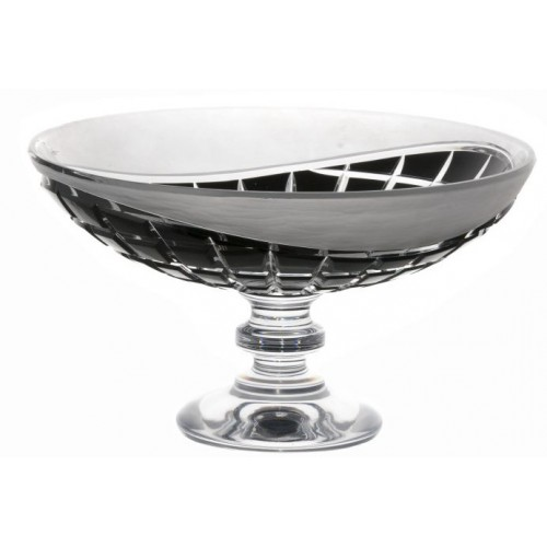 Crystal footed bowl Neron, color black, diameter 280 mm