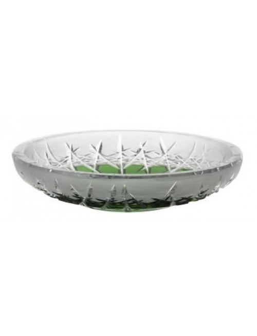 Crystal Plate Hoarfrost, color green, diameter 180 mm