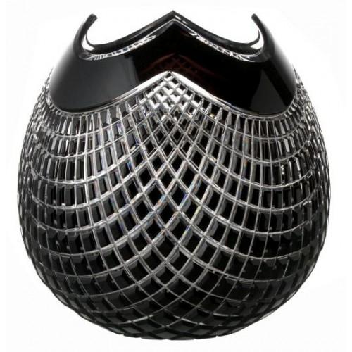 Crystal Vase Quadrus, color black, height 250 mm