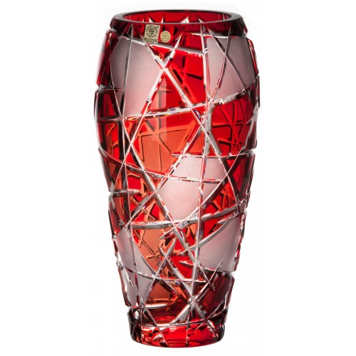 Crystal Vase Mars, color ruby, height 310 mm