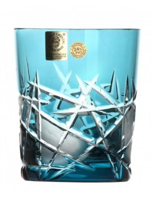 Crystal Glass Mars, color azure, volume 290 ml