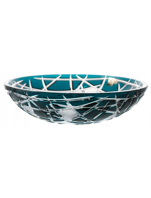 Crystal bowl Mars, color azure, diameter 280 mm