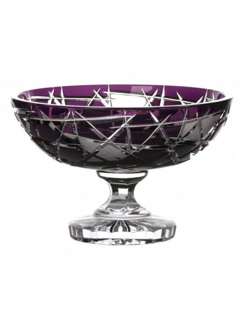 Crystal Footed Bowl Mars, color violet, diameter 280 mm