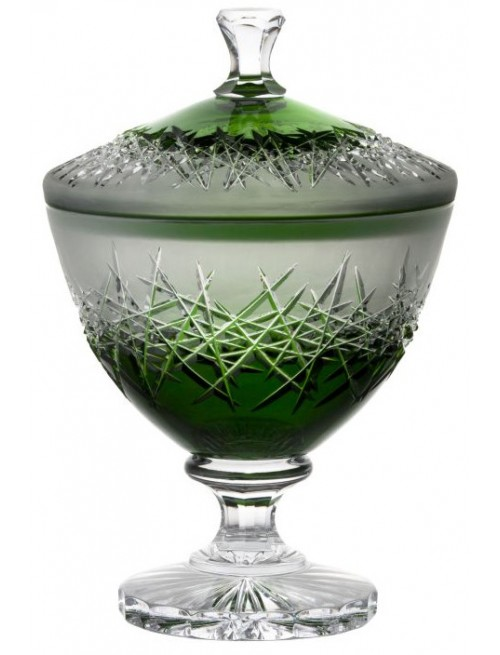 Crystal box Hoarfrost, color green, height 260 mm