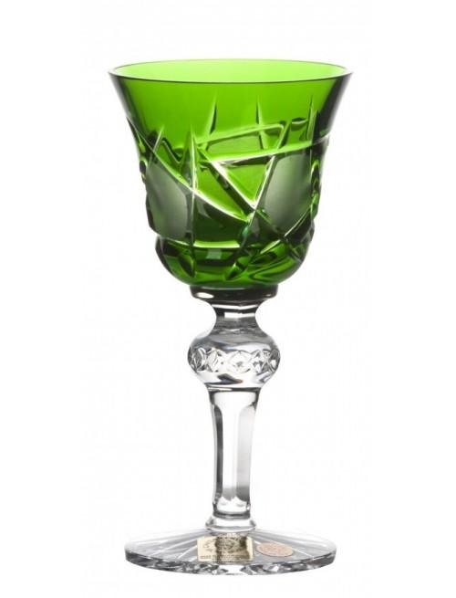 Crystal Shot Glass Mars, color green, volume 50 ml