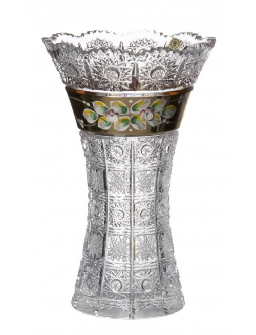 Crystal Vase enamel II, color clear crystal, height 255 mm