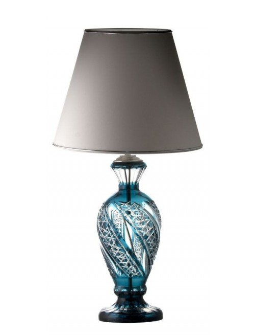 Crystal Lamp Foot Galaxy, color azure, height 390 mm