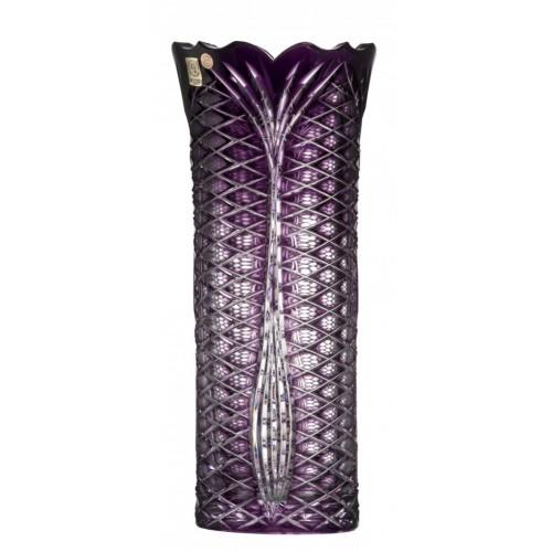Crystal Vase Ankara I, color violet, height 310 mm