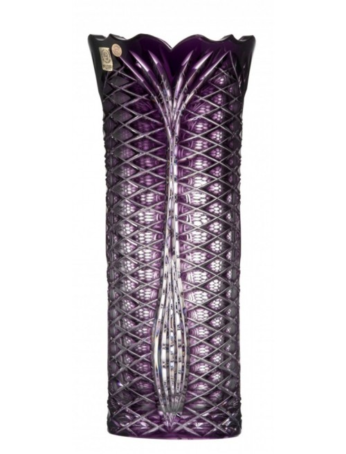 Crystal Vase Ankara I, color violet, height 310 mm
