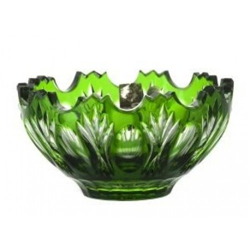 Crystal Bowl Dandelion, color green, diameter 130 mm