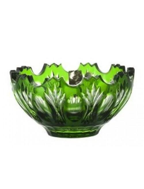 Crystal Bowl Dandelion, color green, diameter 130 mm