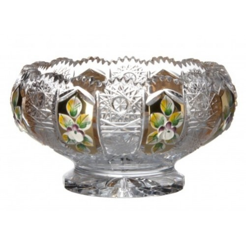 Crystal Bowl enamel, color clear crystal, diameter 128 mm