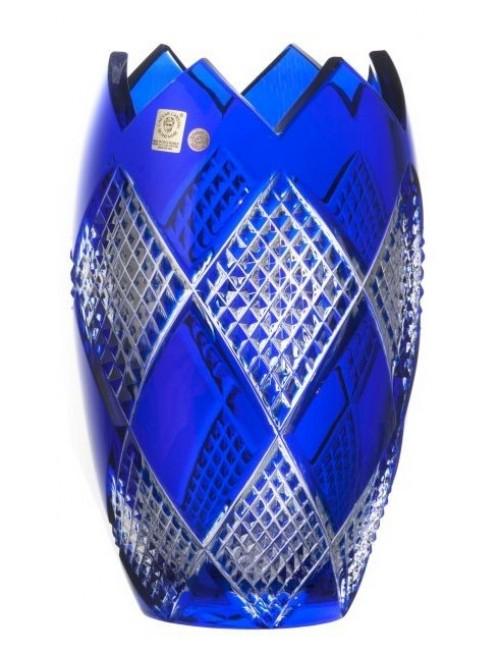 Crystal Vase Colombine I, color blue, height 255 mm