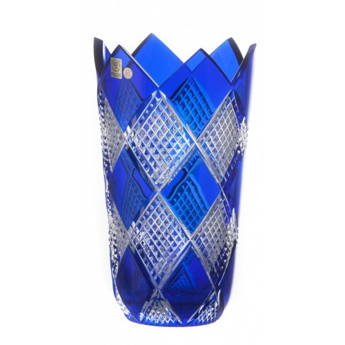 Crystal Vase Colombine II, color blue, height 255 mm