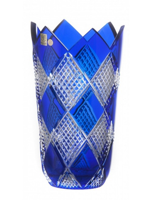 Crystal Vase Colombine II, color blue, height 255 mm