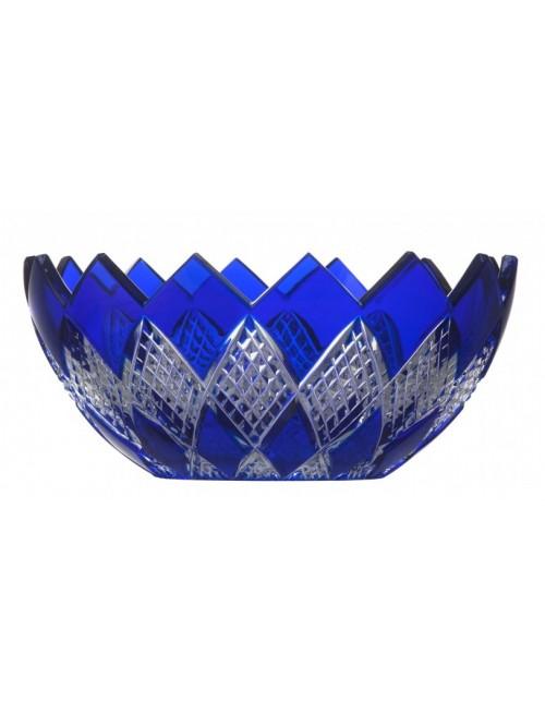Crystal Bowl Colombine, color blue, diameter 250 mm