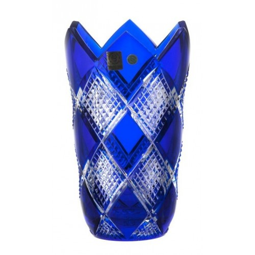 Crystal Vase Colombine, color blue, height 205 mm