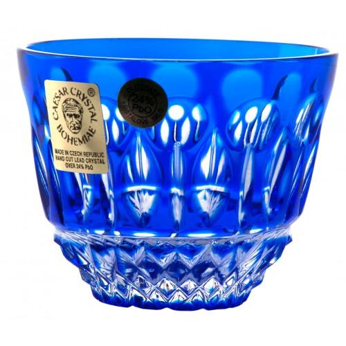 Crystal shot glass Tomy, color blue, volume 65 ml