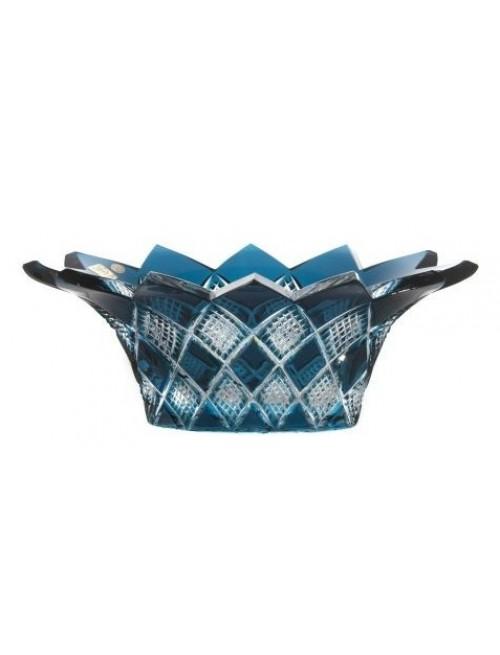 Crystal Bowl Colombine, color azure, diameter 300 mm