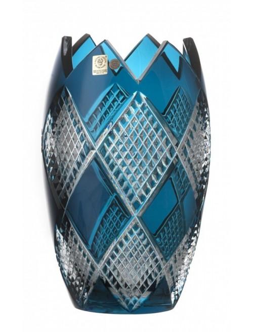 Crystal Vase Colombine I, color azure, height 255 mm