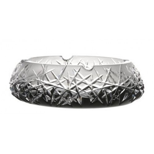 Crystal Ashtray Hoarfrost, color black, diameter 205 mm