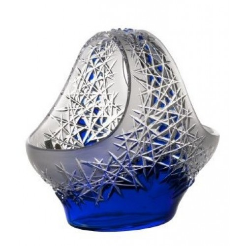 Crystal Basket Hoarfrost, color blue, diameter 255 mm