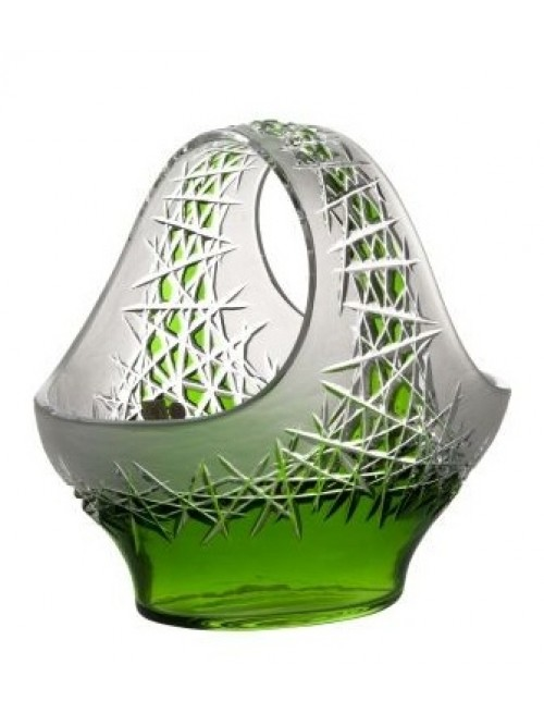 Crystal Basket Hoarfrost, color green, diameter 255 mm