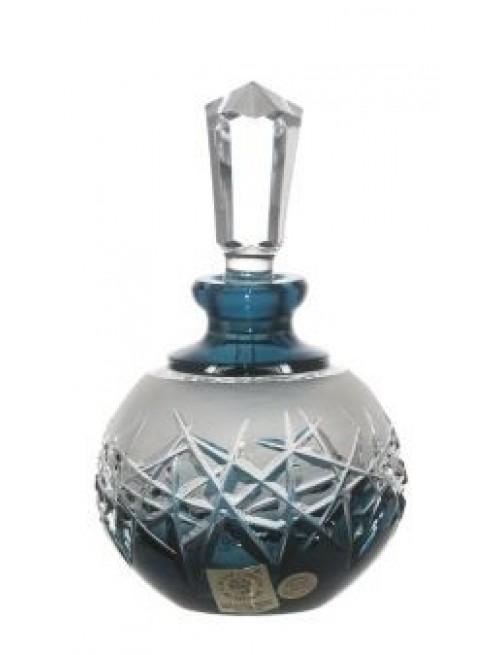 Crystal Perfume Bottle Hoarfrost, color azure, volume 100 ml