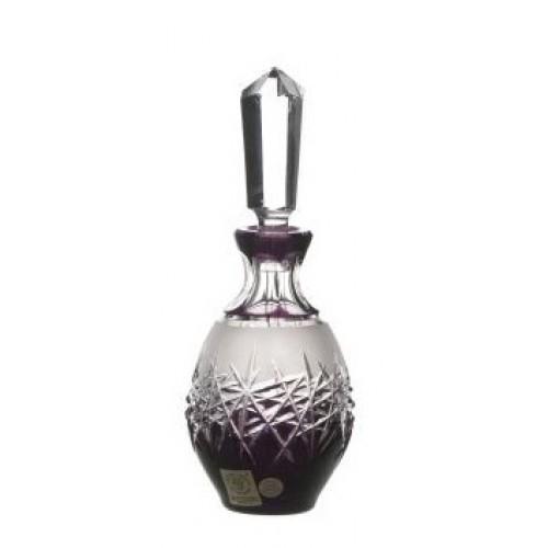 Crystal Perfume Bottle Hoarfrost, color violet, volume 130 ml