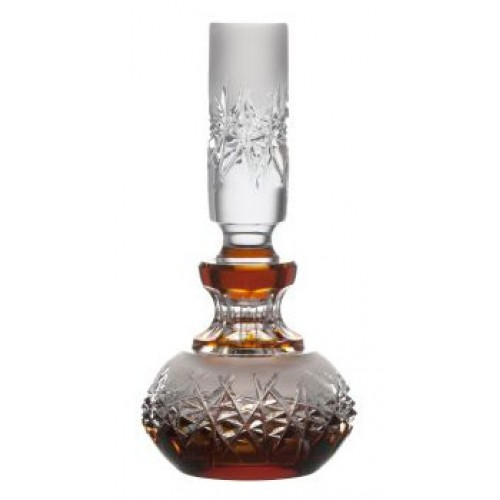 Crystal perfume bottle Hoarfrost, color amber, volume 130 ml