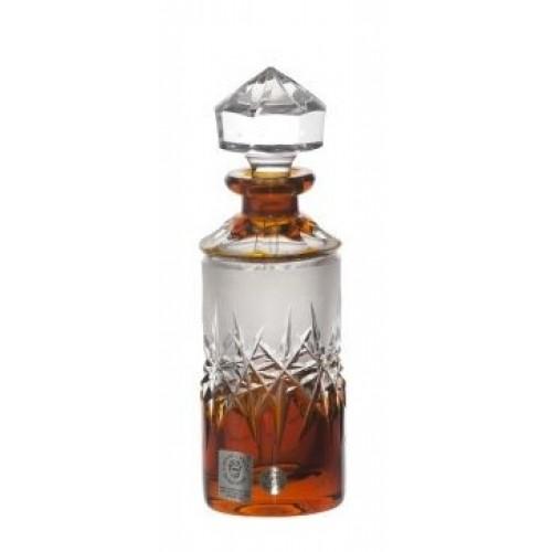 Crystal Perfume Bottle Hoarfrost, color amber, volume 90 ml